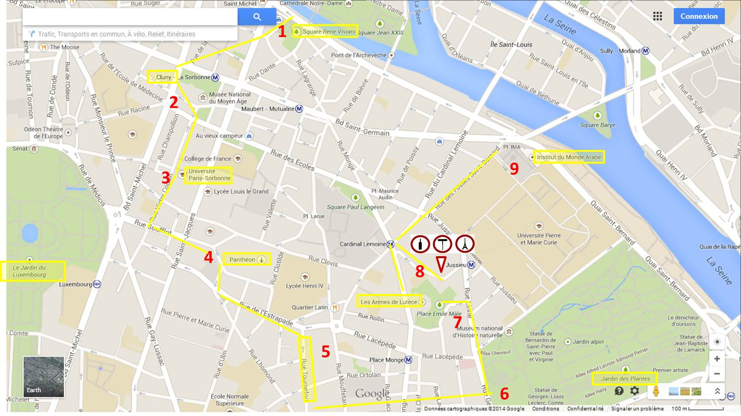 Plan du 5ème arrondissement
